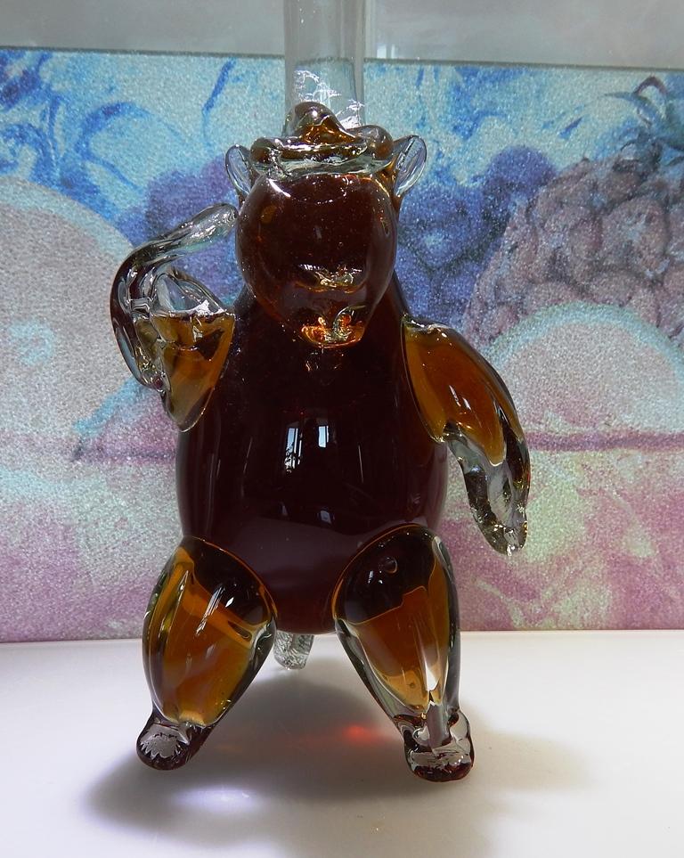 Бутылка Медведь. Ручная работа. 500 мл.