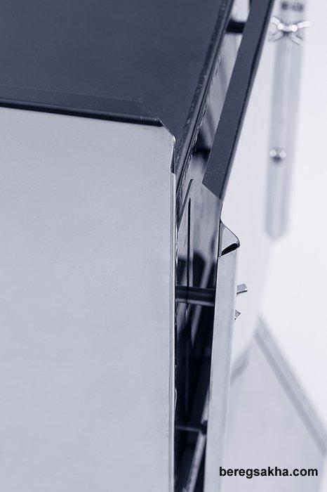 """Печь """"ЭКОНОМКА"""" Малая (17 л.) с Экранами, НЕРЖАВЕЮЩАЯ СТАЛЬ 0.8 мм, ДЛИТЕЛЬНОГО ГОРЕНИЯ - БЛУЖДАЮЩЕЕ ПЛАМЯ."""