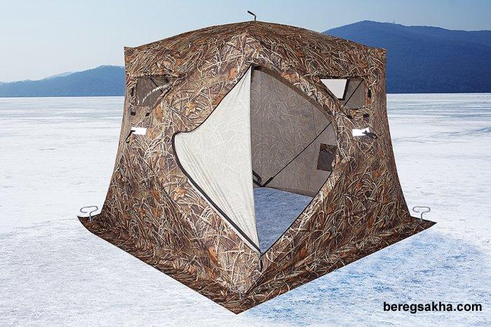 Палатка HIGASHI Camo Pyramid Pro DC, УТЕПЛЕННАЯ, 2,30м*2,30м*2,05м